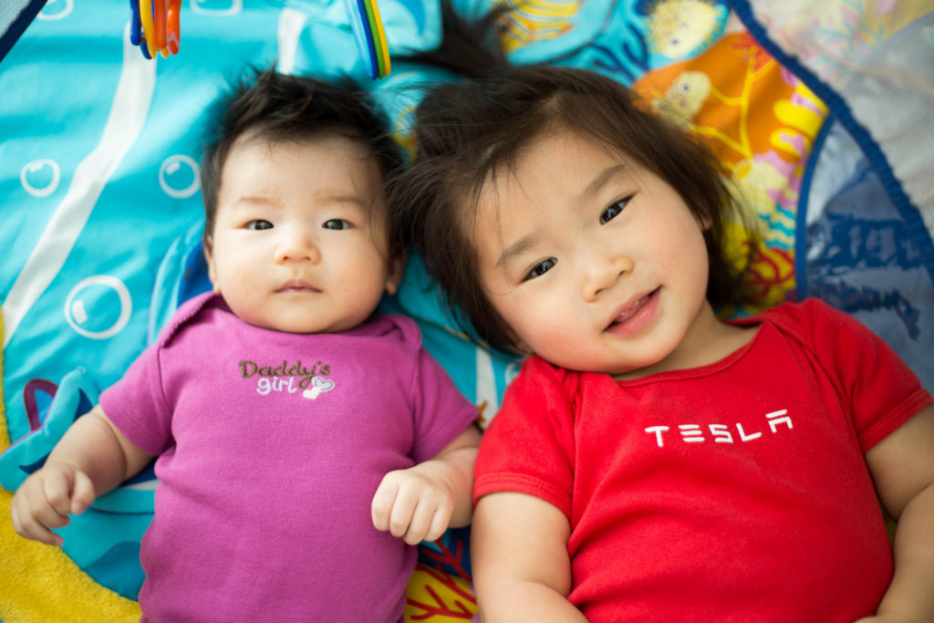 Me and my FAVORITE SISTER!!! I can't wait to wear that Tesla onesie Kayli!