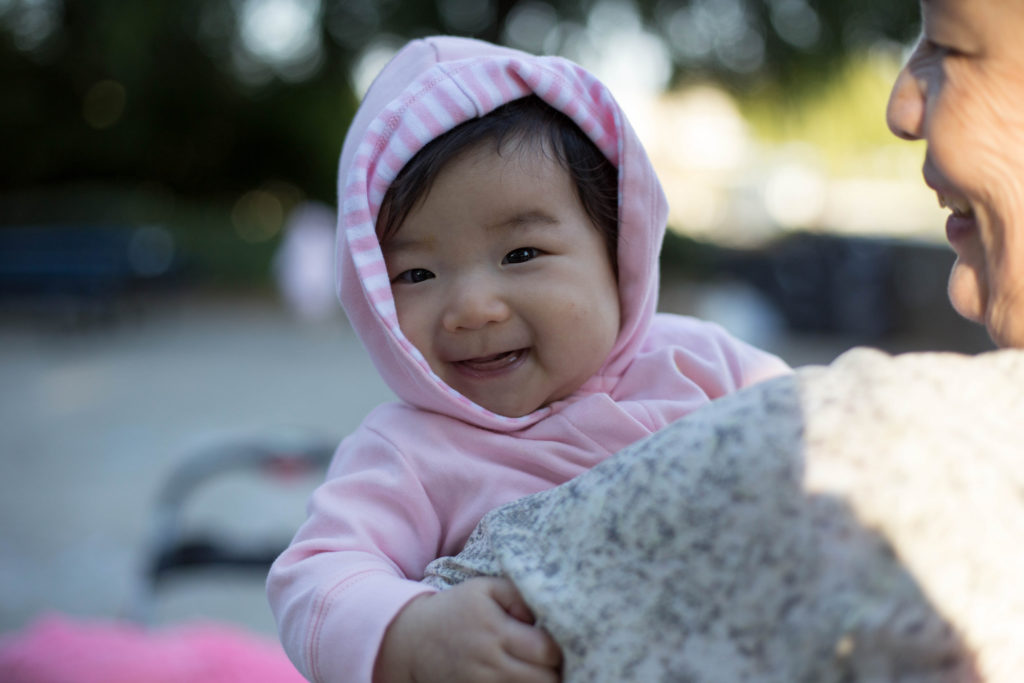 Mei Mei had fun at the park too! She was soooooo happy. Hmm she's always happy though.